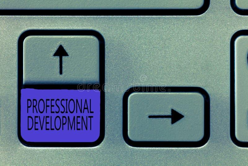Εννοιολογικό χέρι που γράφει παρουσιάζοντας επαγγελματική ανάπτυξη Εκμάθηση επίδειξης επιχειρησιακών φωτογραφιών να κερδίζεται ή  διανυσματική απεικόνιση