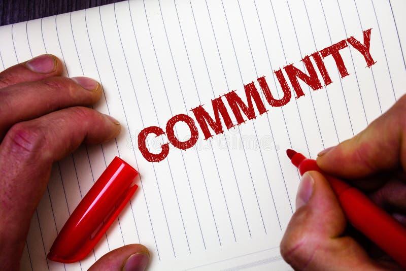 Εννοιολογικό χέρι που γράφει παρουσιάζοντας Κοινότητα Ενότητα Gro συμμαχίας κρατικών συνεταιρισμών ένωσης γειτονιάς επίδειξης επι στοκ φωτογραφίες με δικαίωμα ελεύθερης χρήσης