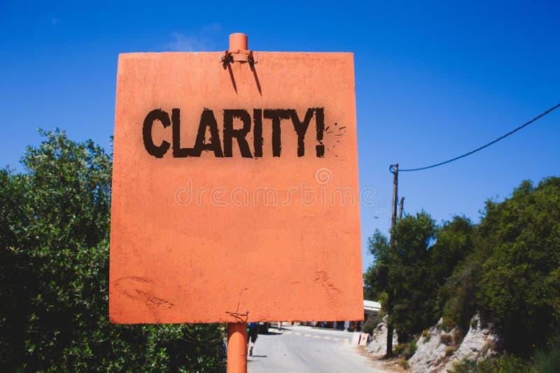 Εννοιολογικό χέρι που γράφει παρουσιάζοντας σαφήνεια Ακρίβεια Wo διαφάνειας δυνατότητας κατανόησης αγνότητας ακρίβειας βεβαιότητα στοκ φωτογραφία με δικαίωμα ελεύθερης χρήσης