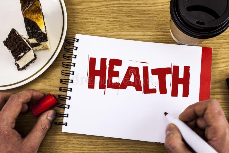 Εννοιολογικό χέρι που γράφει παρουσιάζοντας υγεία Επιδεικνύοντας κράτος επιχειρησιακών φωτογραφιών της ύπαρξης απαλλαγμένος από τ στοκ εικόνα με δικαίωμα ελεύθερης χρήσης