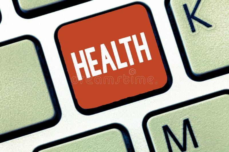 Εννοιολογικό χέρι που γράφει παρουσιάζοντας υγεία Επιδεικνύοντας κράτος επιχειρησιακών φωτογραφιών της ύπαρξης απαλλαγμένος από τ στοκ εικόνες με δικαίωμα ελεύθερης χρήσης