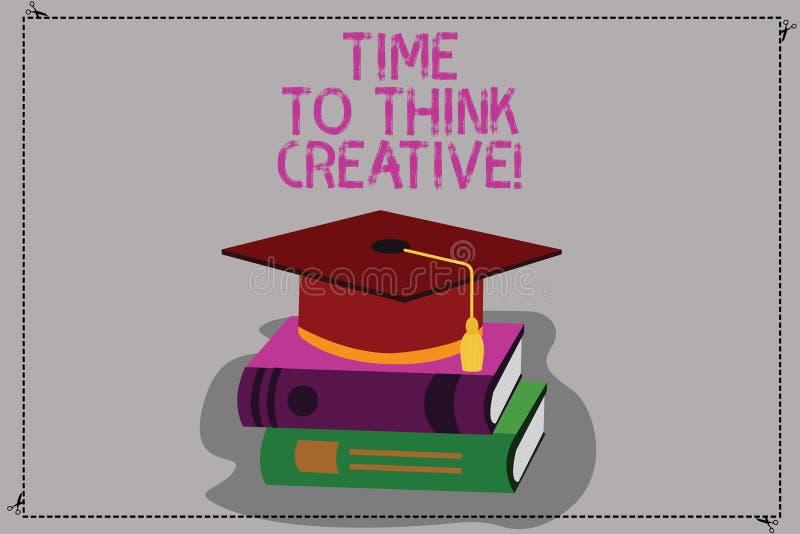 Εννοιολογικό χέρι που γράφει παρουσιάζοντας χρόνο να σκεφτεί δημιουργικός Αρχική σκέψη ιδεών δημιουργικότητας κειμένων επιχειρησι διανυσματική απεικόνιση