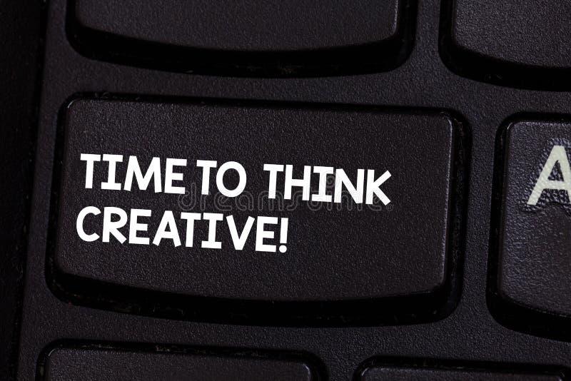 Εννοιολογικό χέρι που γράφει παρουσιάζοντας χρόνο να σκεφτεί δημιουργικός Αρχική σκέψη ιδεών δημιουργικότητας επίδειξης επιχειρησ στοκ εικόνα