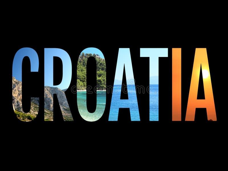 Εννοιολογική απεικόνιση εικόνας σημαδιών της Κροατίας διανυσματική απεικόνιση