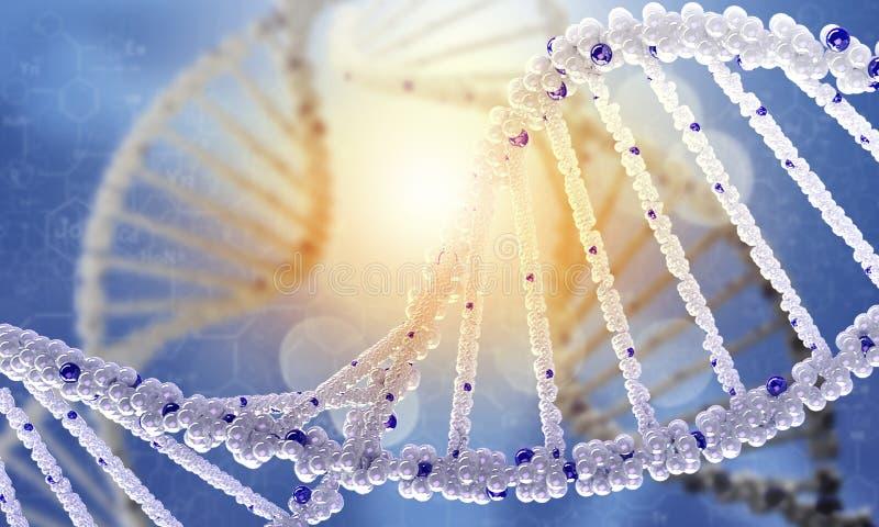 Εννοιολογική εικόνα μορίων DNA στοκ φωτογραφία με δικαίωμα ελεύθερης χρήσης