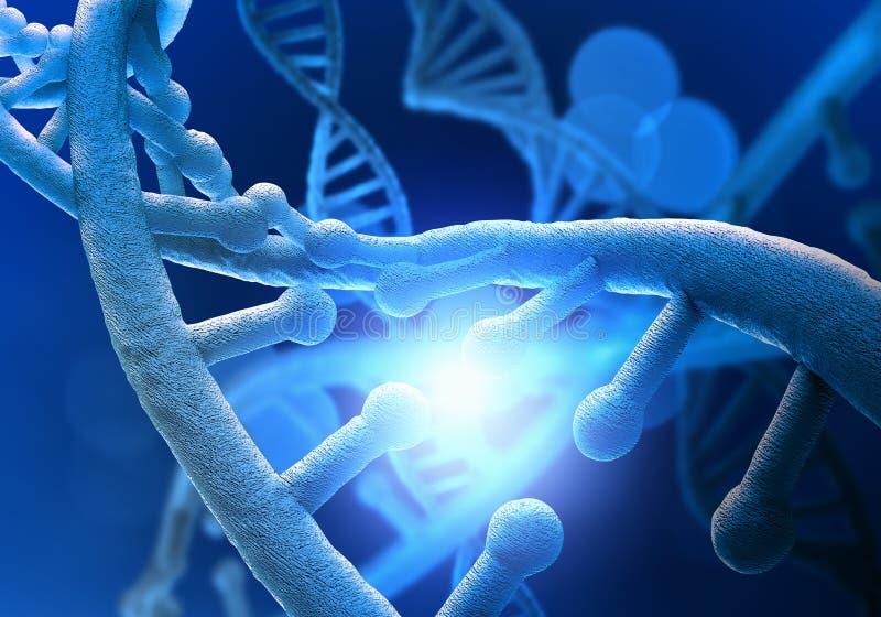 Εννοιολογική εικόνα μορίων DNA στοκ εικόνα