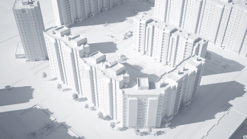 Εννοιολογική εικόνα των κτηρίων διανυσματική απεικόνιση
