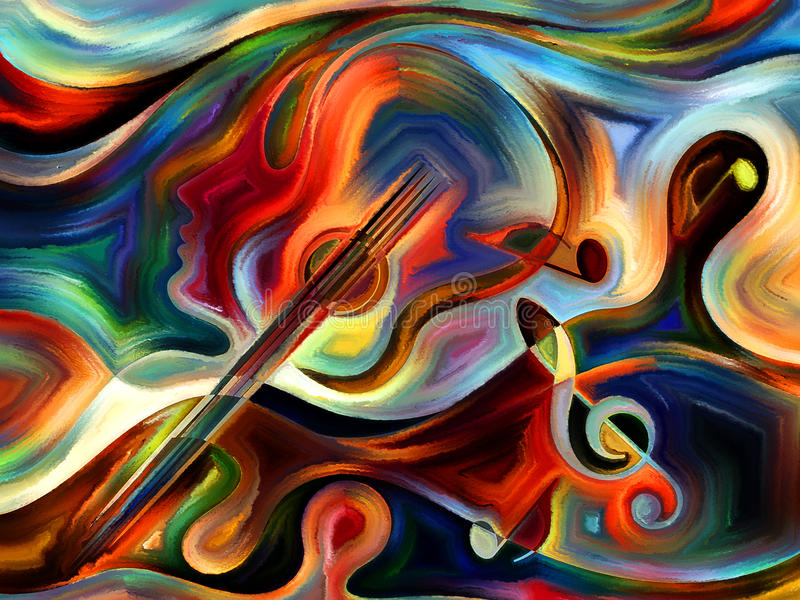 Εννοιολογική μουσική ελεύθερη απεικόνιση δικαιώματος