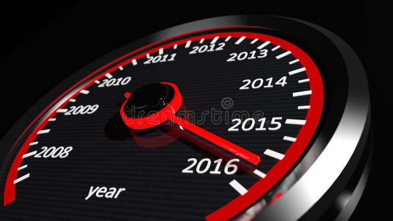 Εννοιολογικό έτος του 2016 διανυσματική απεικόνιση