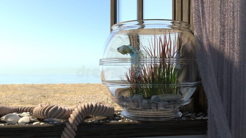 Εννοιολογικό υπόβαθρο με τη θάλασσα παραλιών, στοκ φωτογραφίες με δικαίωμα ελεύθερης χρήσης