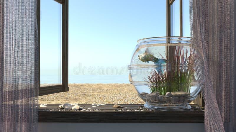Εννοιολογικό υπόβαθρο με τη θάλασσα παραλιών, στοκ εικόνες