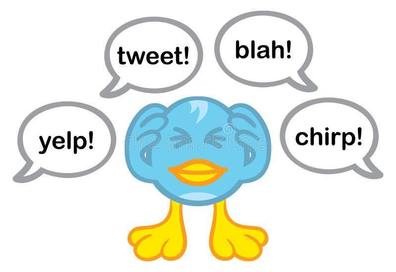 ενοχλημένο μπλε πουλιών διανυσματική απεικόνιση