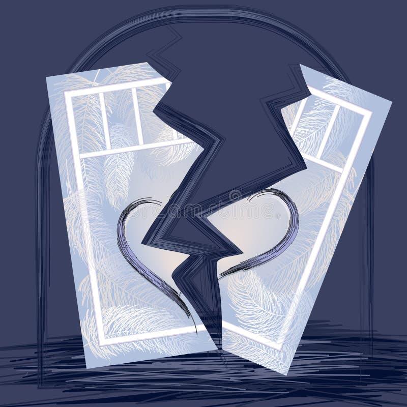 Ενσυναίσθημα, διαζύγιο, διαλυμένη οικογένεια, σπασμένη καρδιά ελεύθερη απεικόνιση δικαιώματος
