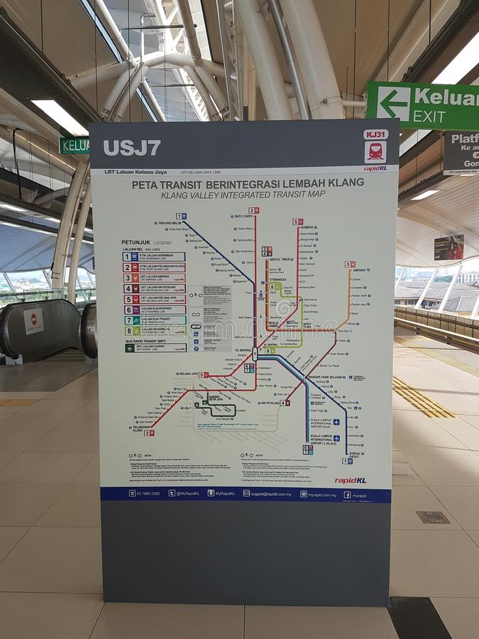 Ενσωματωμένος χάρτης διέλευσης κοιλάδων Klang η Μαλαισία στοκ φωτογραφία