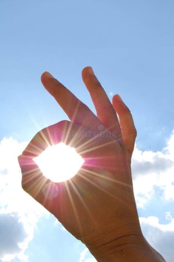 εντάξει ηλιοφάνεια στοκ φωτογραφία με δικαίωμα ελεύθερης χρήσης