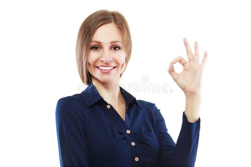 Εντάξει χειρονομία στοκ φωτογραφία με δικαίωμα ελεύθερης χρήσης