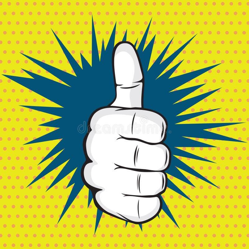 ΕΝΤΑΞΕΙ απεικόνιση τέχνης δάχτυλων λαϊκή ελεύθερη απεικόνιση δικαιώματος