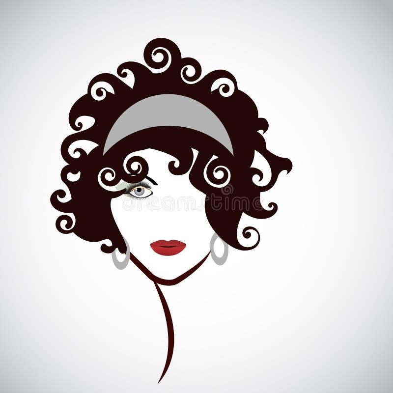 Εντυπωσιακό εικονίδιο ομορφιάς γυναικών ελεύθερη απεικόνιση δικαιώματος