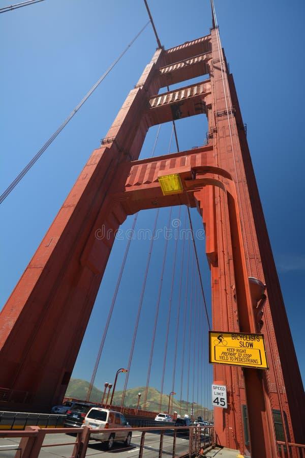 Εντυπώσεις από τη χρυσή γέφυρα πυλών στο Σαν Φρανσίσκο από τις 2 Μαΐου 2017, Καλιφόρνια ΗΠΑ στοκ εικόνες
