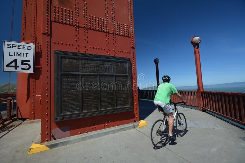 Εντυπώσεις από τη χρυσή γέφυρα πυλών στο Σαν Φρανσίσκο από τις 2 Μαΐου 2017, Καλιφόρνια ΗΠΑ στοκ φωτογραφίες