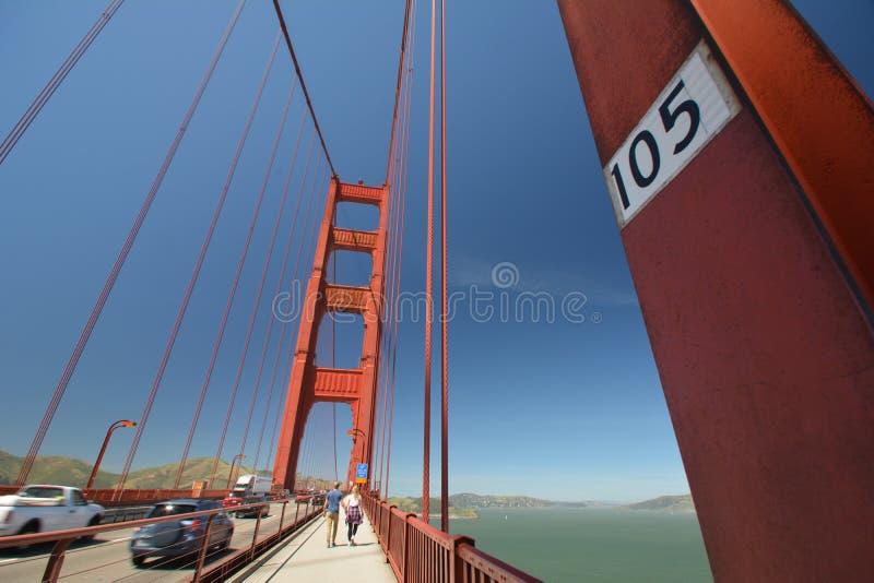 Εντυπώσεις από τη χρυσή γέφυρα πυλών στο Σαν Φρανσίσκο από τις 2 Μαΐου 2017, Καλιφόρνια ΗΠΑ στοκ εικόνα