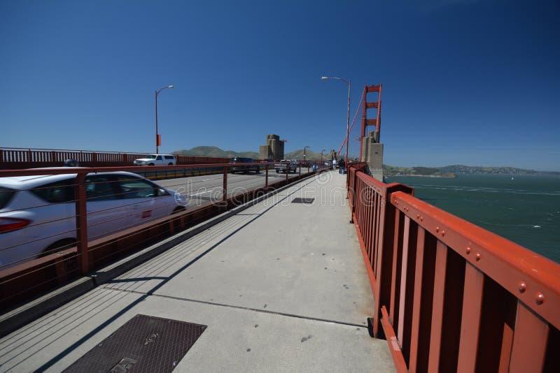 Εντυπώσεις από τη χρυσή γέφυρα πυλών στο Σαν Φρανσίσκο από τις 2 Μαΐου 2017, Καλιφόρνια ΗΠΑ στοκ φωτογραφία με δικαίωμα ελεύθερης χρήσης