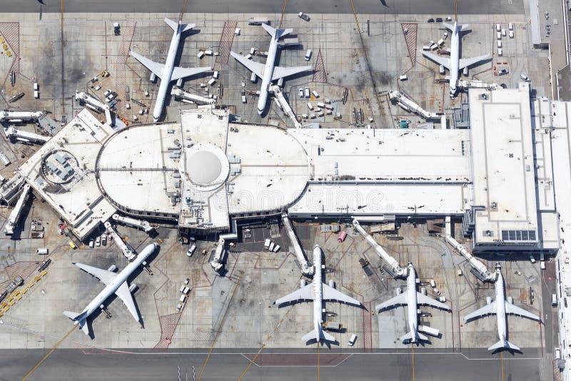 Ενωμένη Αεροπλοΐα των αερογραμμών του αεροδρομίου του Λος Άντζελες στοκ φωτογραφίες με δικαίωμα ελεύθερης χρήσης