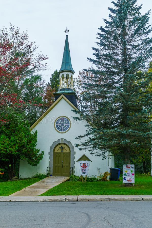 Ενωμένη εκκλησία του Καναδά στην sainte-Adele στοκ φωτογραφίες