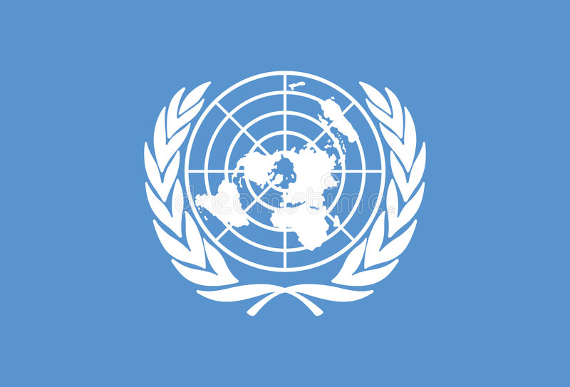 ενωμένο έθνη διάνυσμα σημα&iot στοκ φωτογραφία με δικαίωμα ελεύθερης χρήσης