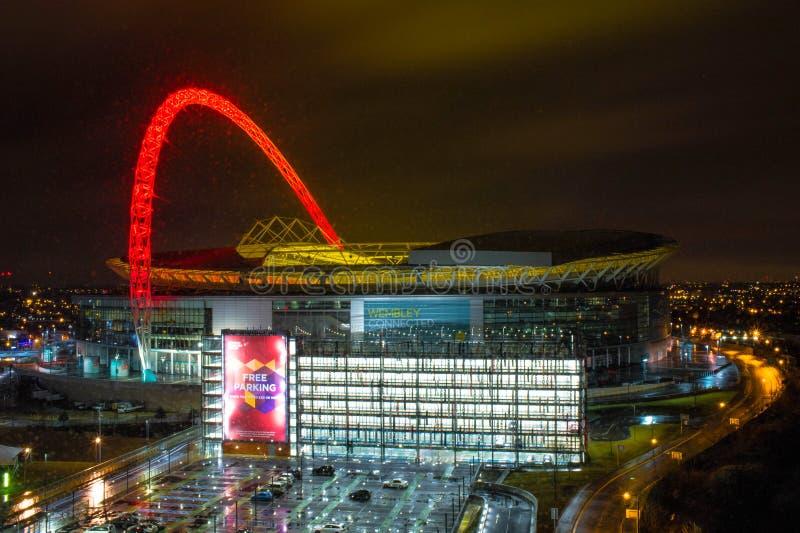 ενωμένο στάδιο wembley αντιστοιχιών του Λονδίνου βασίλειων ποδοσφαίρου στοκ εικόνα με δικαίωμα ελεύθερης χρήσης