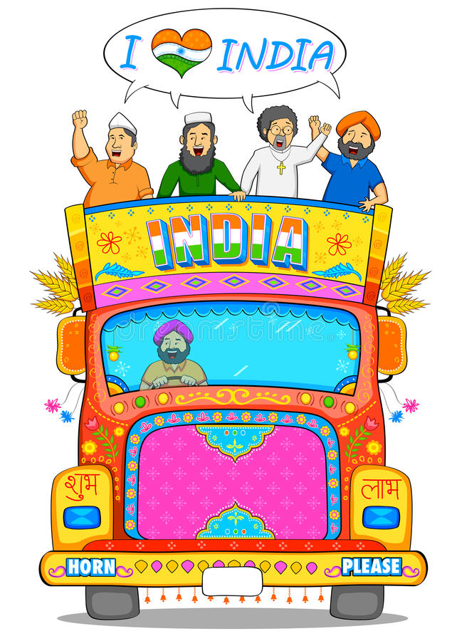 Ενότητα στην ποικιλομορφία της Ινδίας ελεύθερη απεικόνιση δικαιώματος