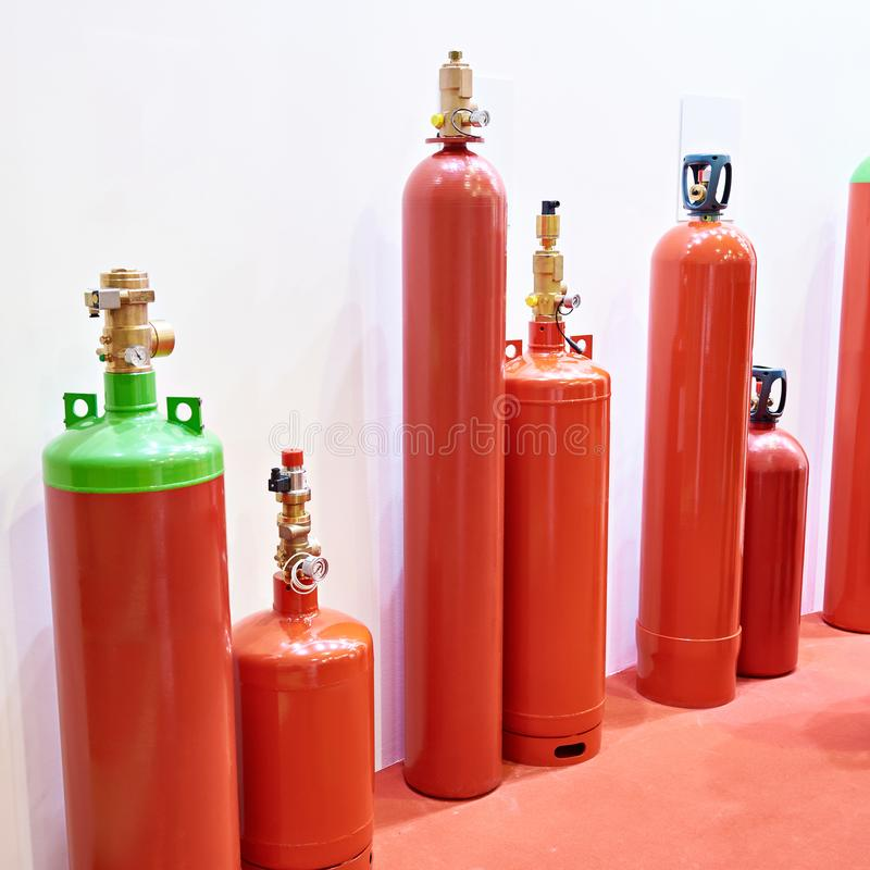 Ενότητες κυλίνδρων για την εξάλειψη αερίου στοκ φωτογραφία με δικαίωμα ελεύθερης χρήσης