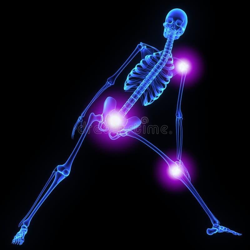 Ενώσεις σκελετών διανυσματική απεικόνιση