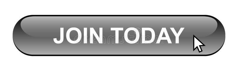Ενώστε σήμερα το κουμπί ελεύθερη απεικόνιση δικαιώματος