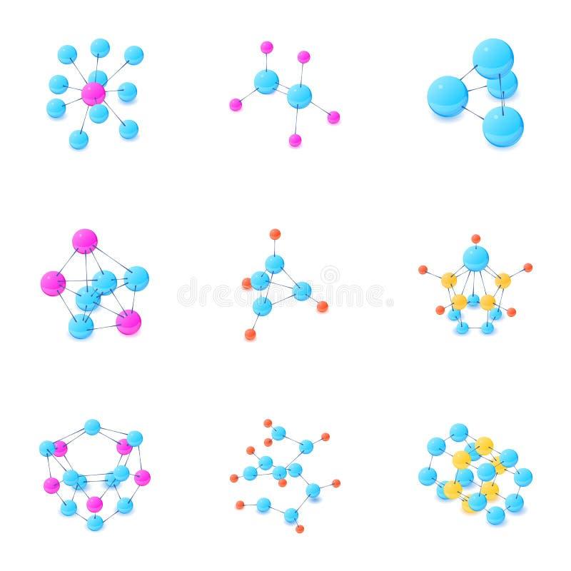 Ενώστε τα εικονίδια καθορισμένα, isometric ύφος διανυσματική απεικόνιση
