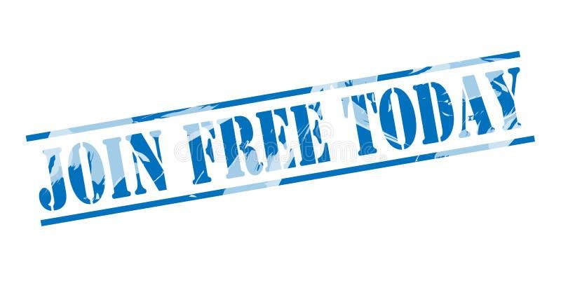 Ενώστε το ελεύθερο σήμερα μπλε γραμματόσημο ελεύθερη απεικόνιση δικαιώματος