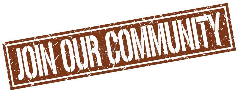 Ενώστε το κοινοτικό γραμματόσημό μας διανυσματική απεικόνιση