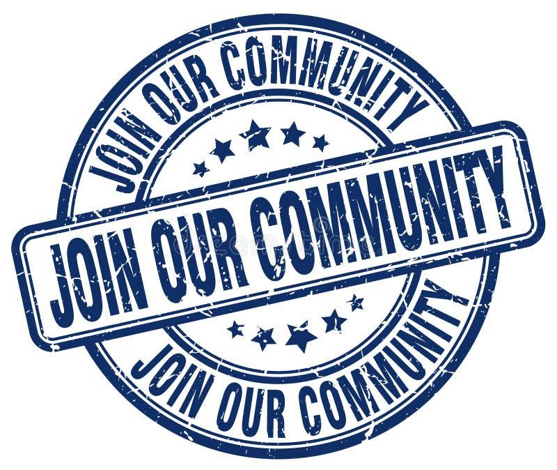 ενώστε το κοινοτικό μπλε γραμματόσημό μας ελεύθερη απεικόνιση δικαιώματος