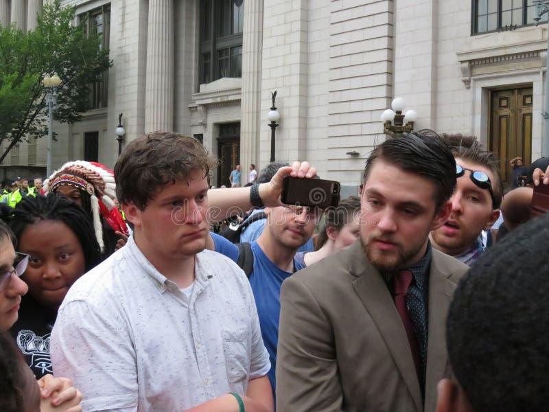Ενώστε το σωστό υποστηρικτή στη συνάθροιση στο Washington DC στοκ φωτογραφία με δικαίωμα ελεύθερης χρήσης