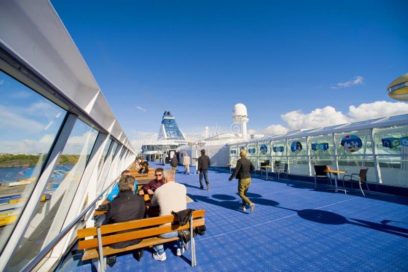 εν πλω σκάφος κρουαζιέρ&al στοκ εικόνες με δικαίωμα ελεύθερης χρήσης