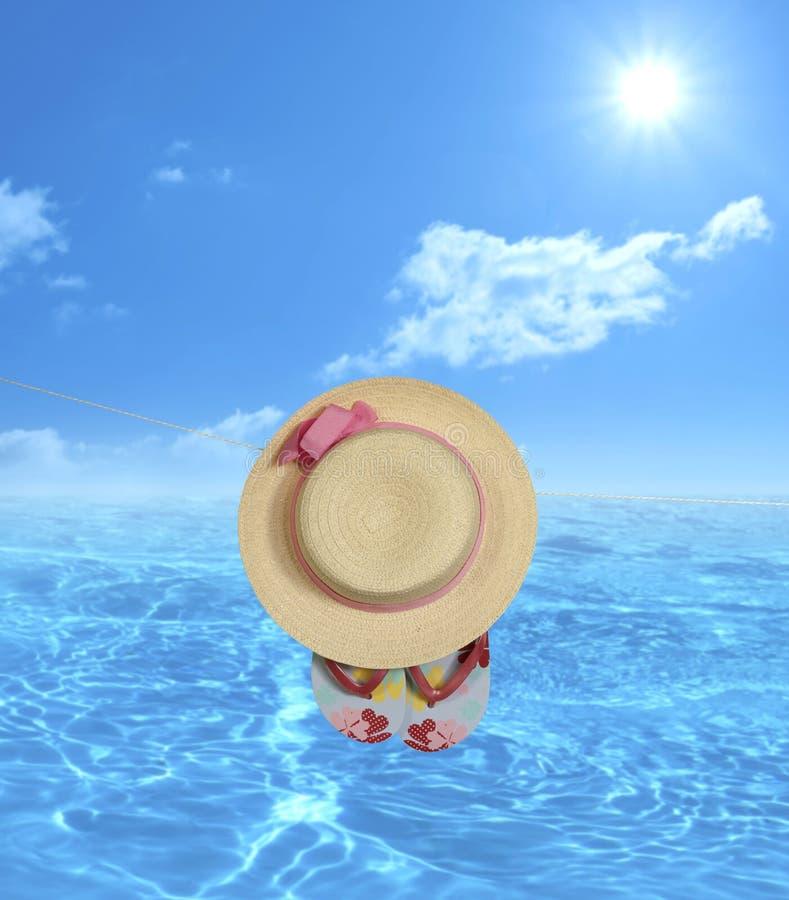 Εν πλω υπόβαθρο διακοπών διακοπών Beachwear στοκ εικόνα με δικαίωμα ελεύθερης χρήσης