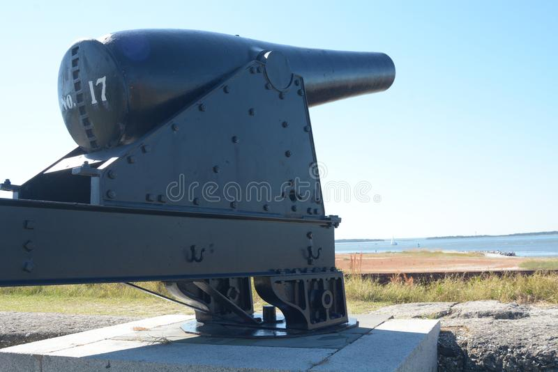 Εν τούτοις κατά τη διάρκεια του αμερικανικού εμφύλιου πολέμου, Clinch οχυρών δεν περιλήφθηκε ποτέ ενεργά με την εχθρική δέσμευση στοκ φωτογραφία με δικαίωμα ελεύθερης χρήσης