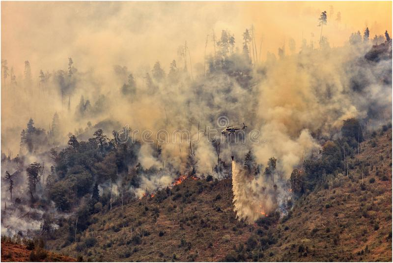 Εξάλειψη μιας πυρκαγιάς στη Γεωργία στοκ εικόνες με δικαίωμα ελεύθερης χρήσης