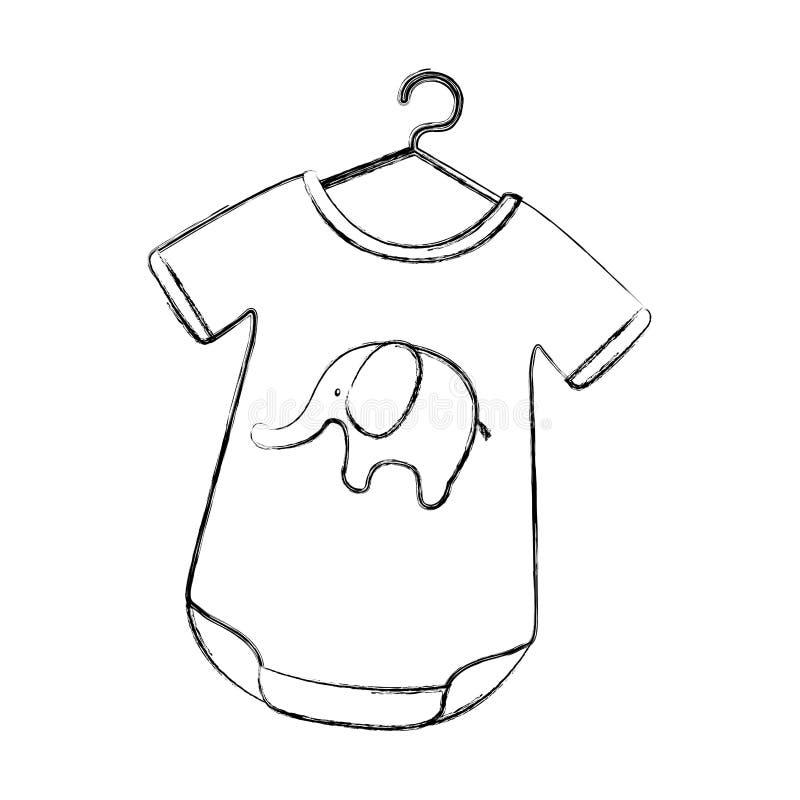 Εξάρτηση μωρών με τον ελέφαντα διανυσματική απεικόνιση