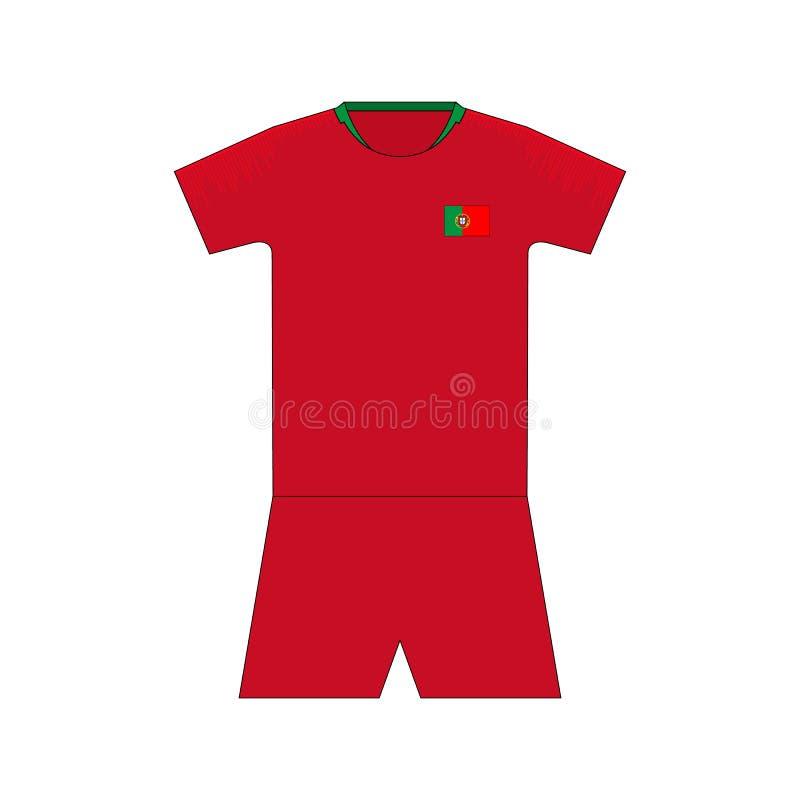 Εξάρτηση ποδοσφαίρου Πορτογαλία διανυσματική απεικόνιση