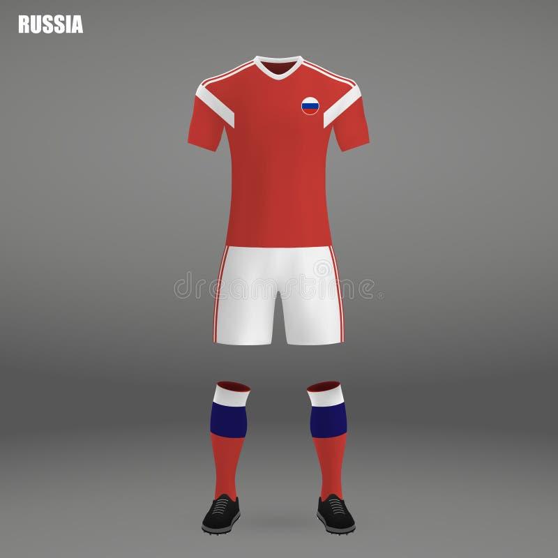 Εξάρτηση ποδοσφαίρου της Ρωσίας 2018 διανυσματική απεικόνιση