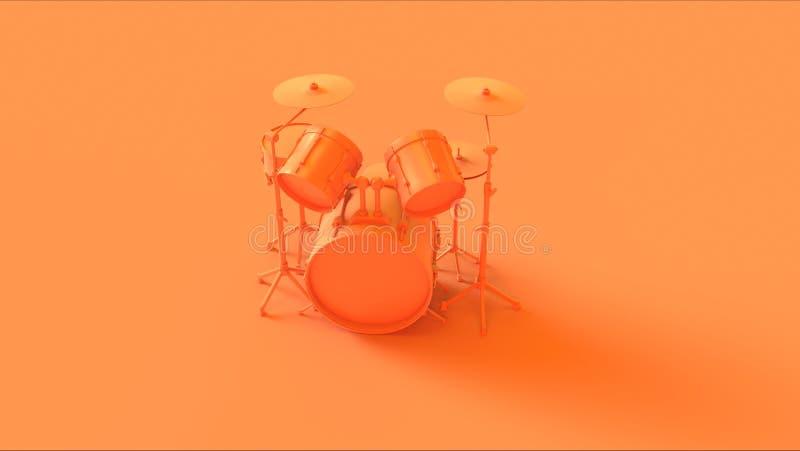 Εξάρτηση τυμπάνων πορτοκαλιών/ροδάκινων διανυσματική απεικόνιση