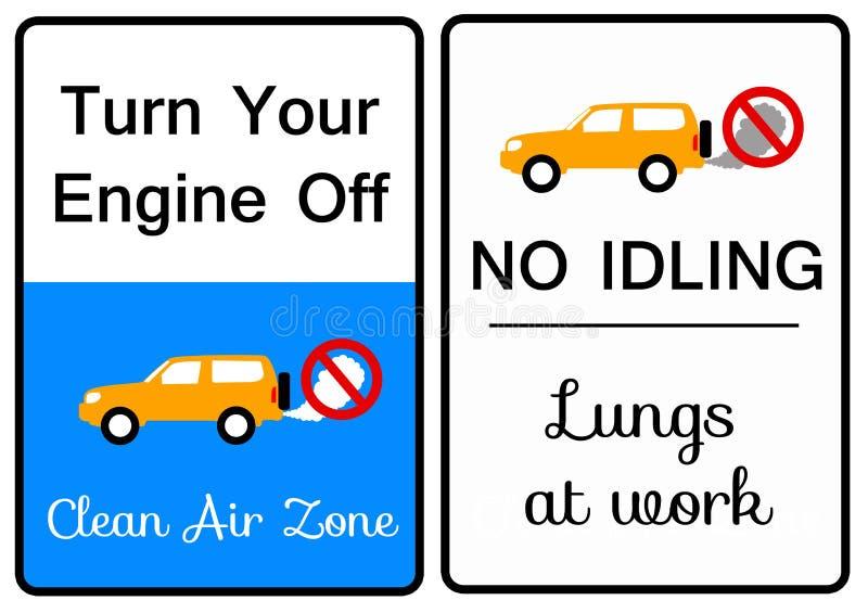 Εξάτμιση αυτοκινήτων διανυσματική απεικόνιση