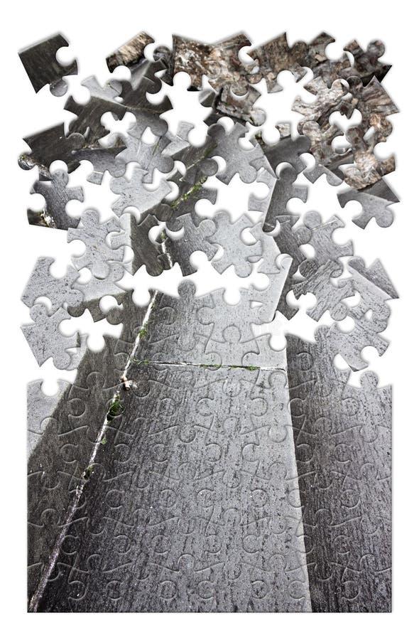 Εξάλειψη ή υπερνίκηση της αρχιτεκτονικής εικόνας ι έννοιας εμποδίων στοκ εικόνα με δικαίωμα ελεύθερης χρήσης