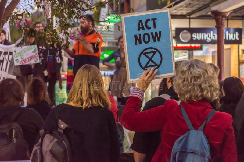Εξέγερση MallExtinction Rundle στοκ φωτογραφία
